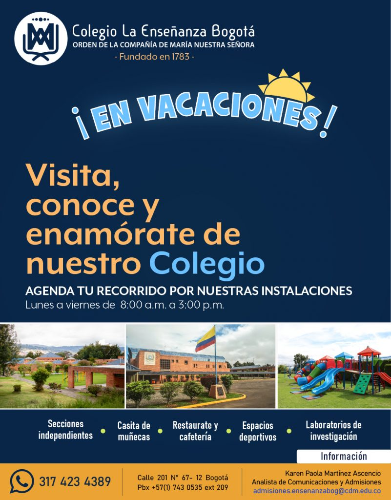 Colegio La Enseñanza Bogotá Admisiones en Vacaciones